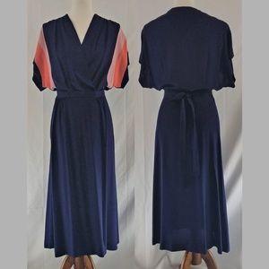 60's Vintage Adjustable Wrap Dress, Lightweight